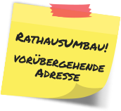 post-it Rathausumbau